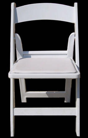 Where to find CHAIR, FOLDING WHITE RESIN in Burnet